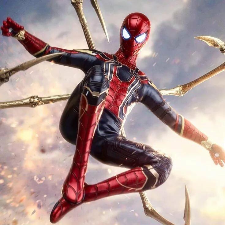 Картинка человека паука из первый мститель руси полные