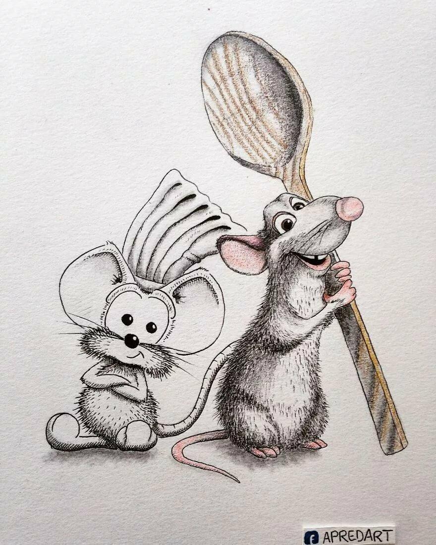 Интересные нарисованные картинки с животными смешные