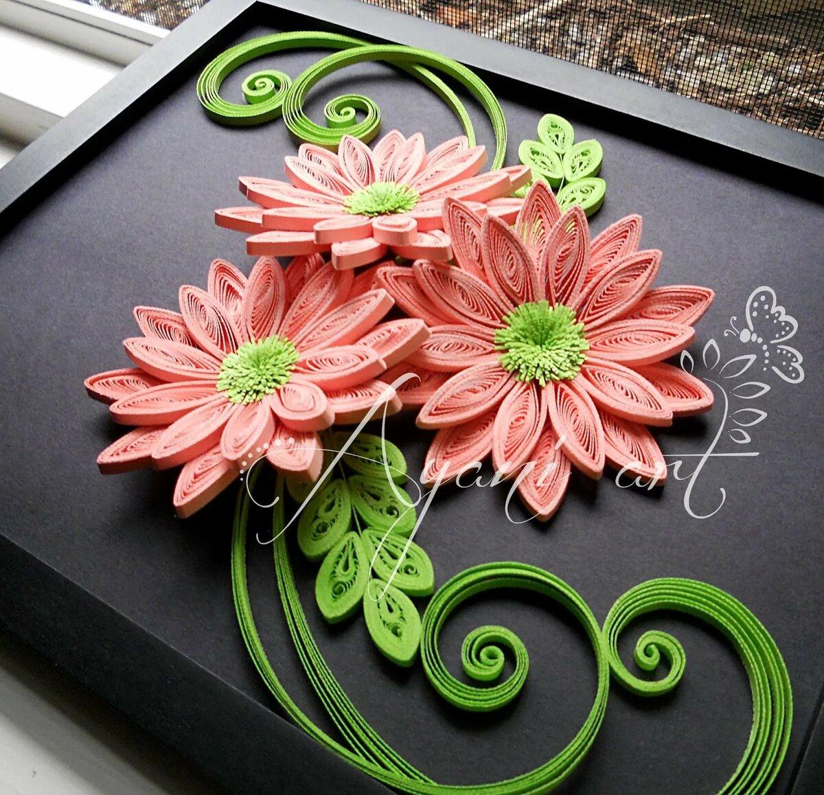 квиллинг открытка для начинающих пошагово с фото из бумаги цветы хакамада другие дне