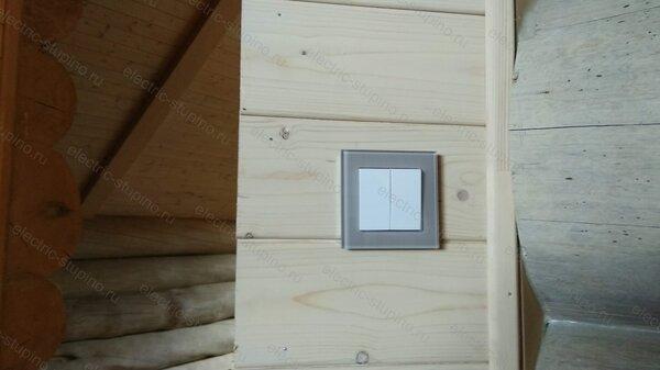 Подключение внутреннего Выключателя в деревянном доме
