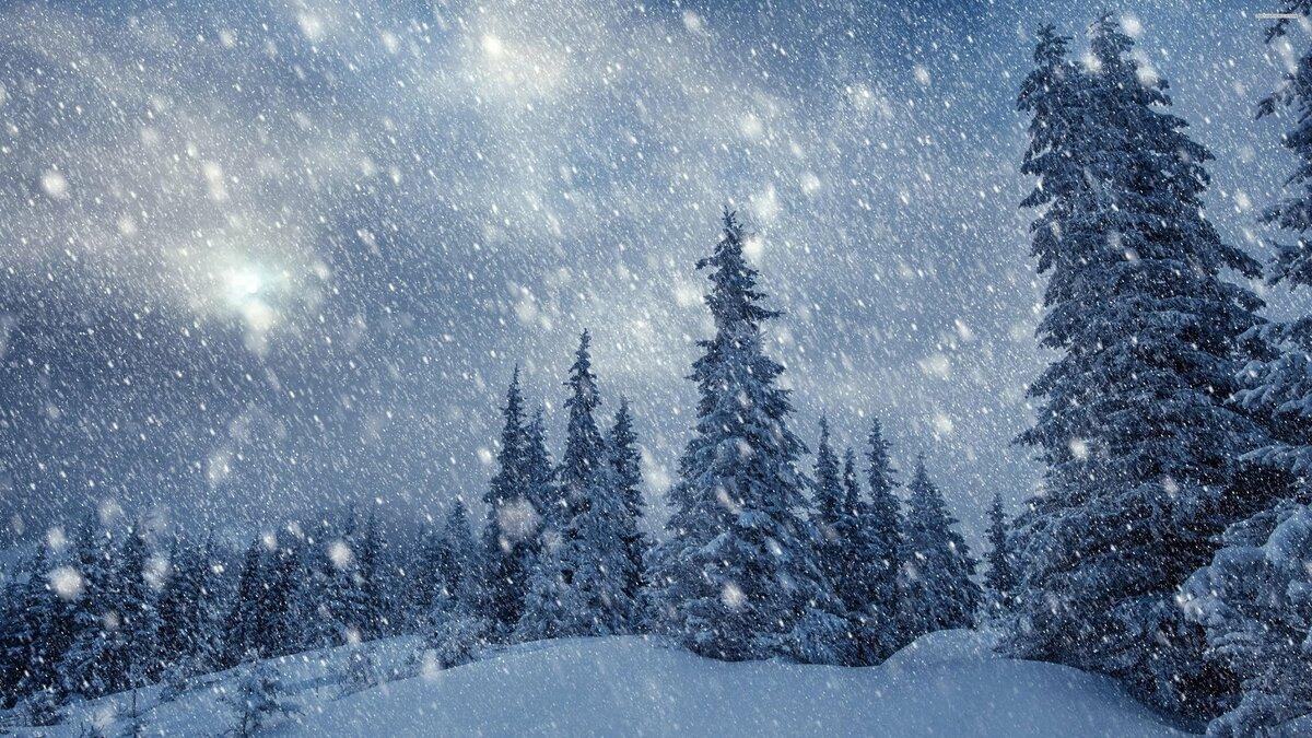 Падающий снег картинка на рабочий стол