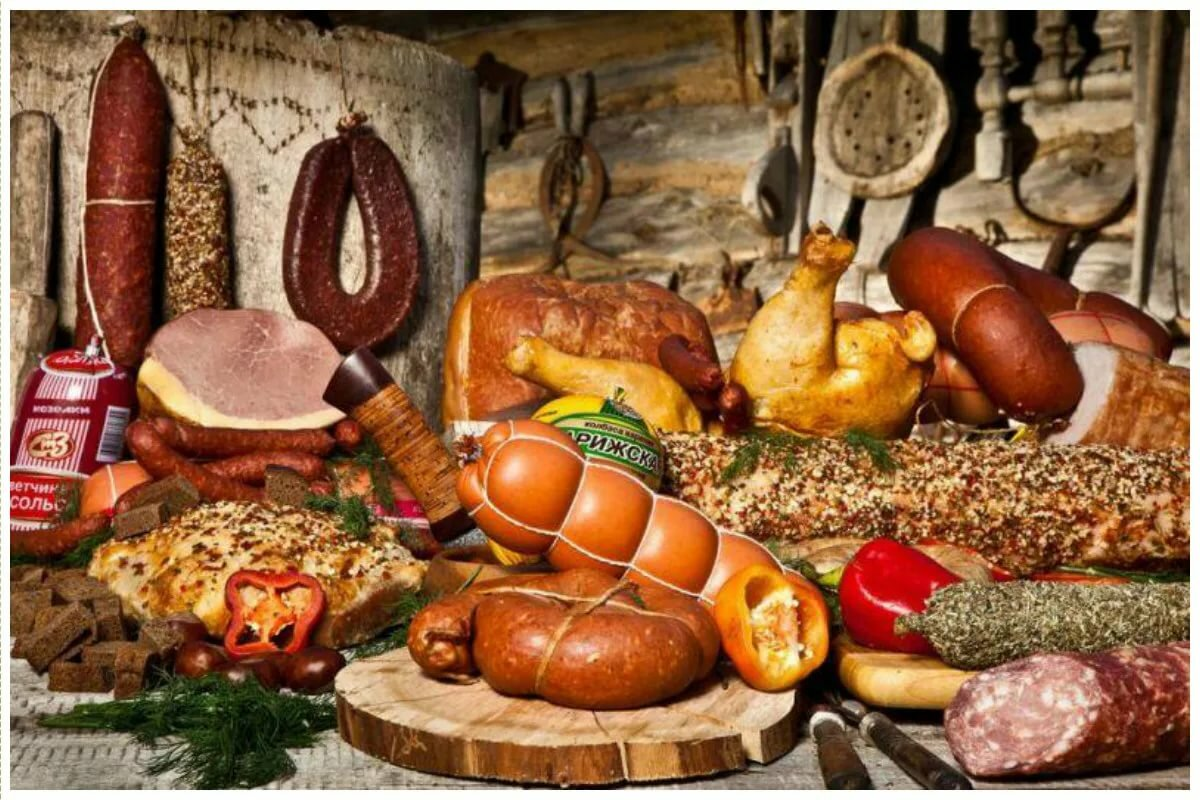 сцеплены, картинки колбас и деликатесов даже, несмотря то