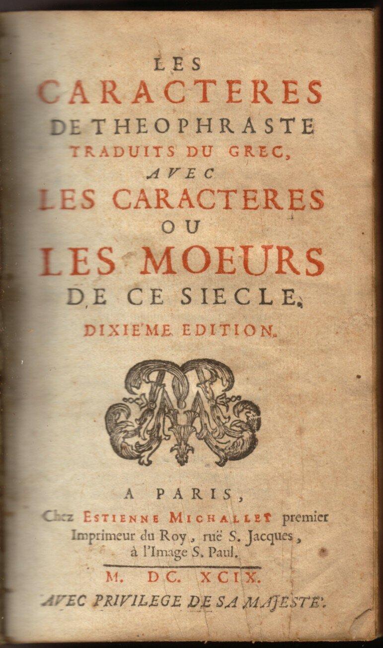 Жан де Лабрюйер - Характеры, или нравы нынешнего века