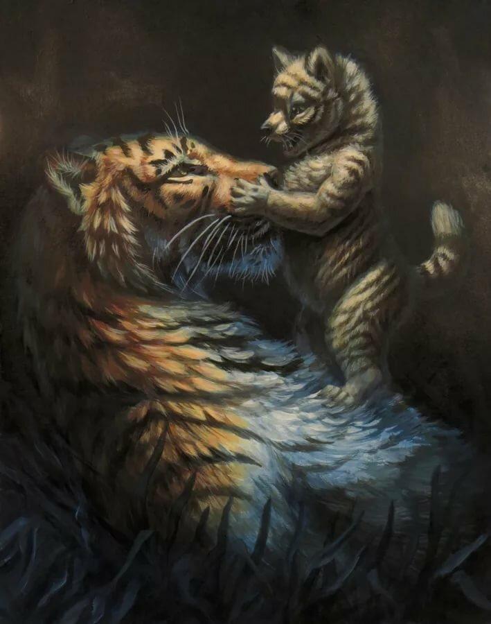 картинки волков и тигров фэнтези здесь есть