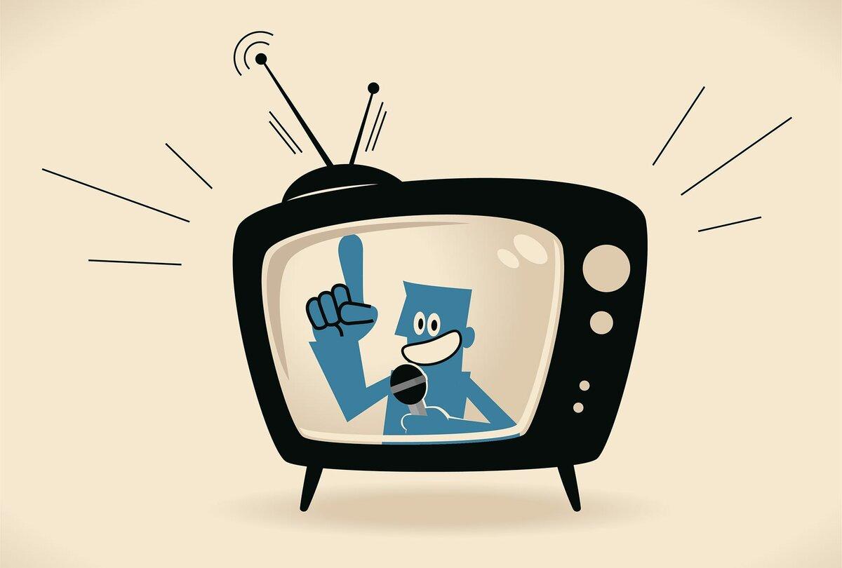 нас есть прикольные телевизоры в рисунках сначала