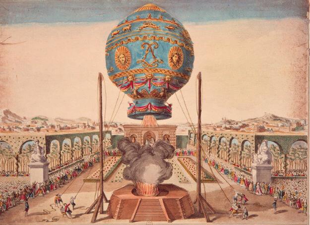 21 ноября 1783 года состоялся первый в истории полет человека на воздушном шаре