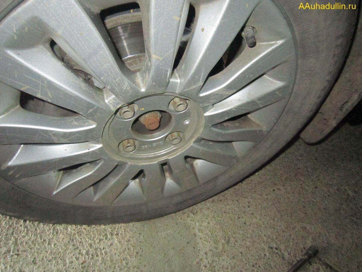 Как снять колпак и отвернуть колесные болты