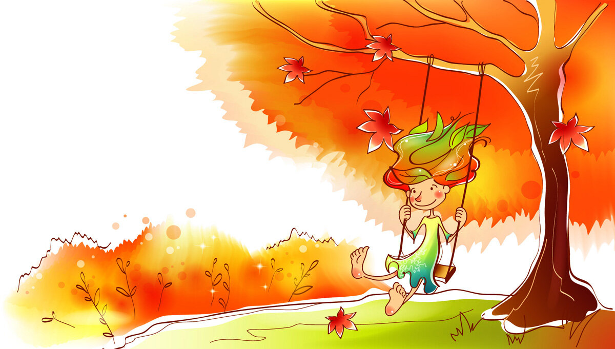 Осень картинки детские про осень