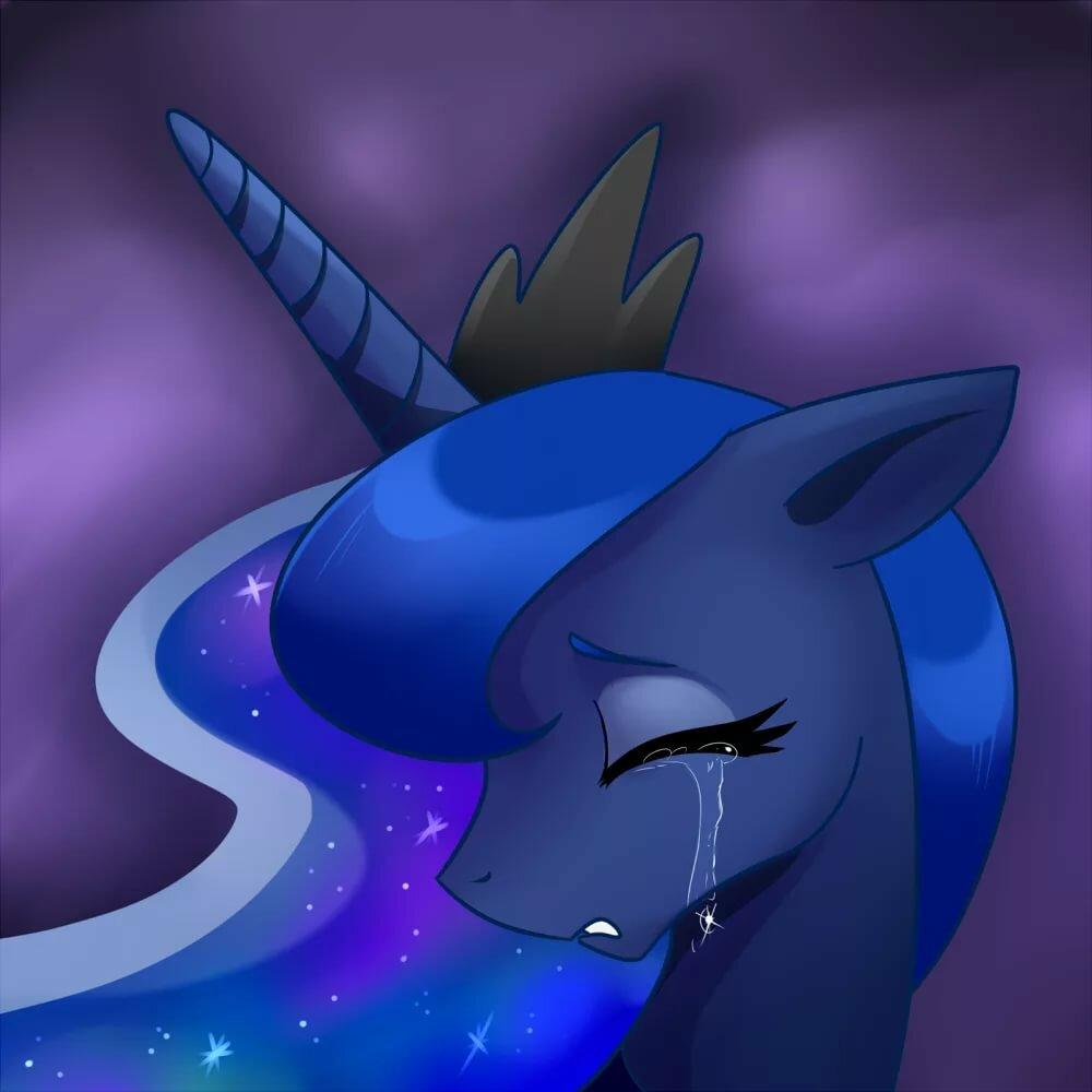 Картинки грустная луна