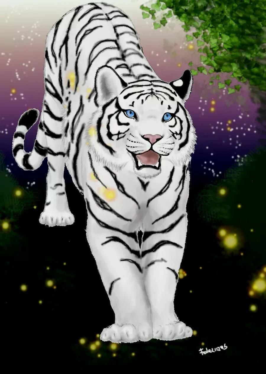 Аниме картинки тигры