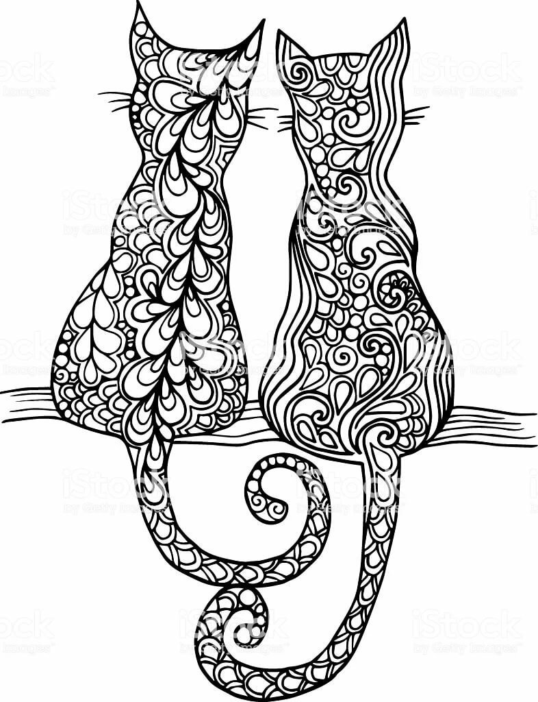 Кошки с узорами картинки