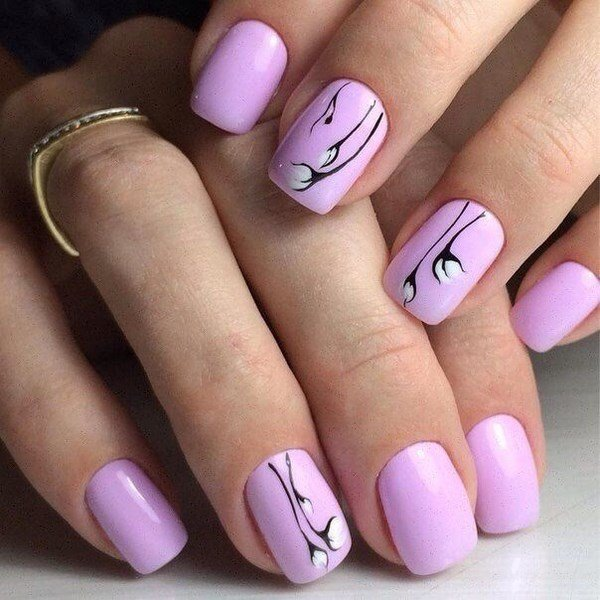 Рисунки на ногтях легкие красивые