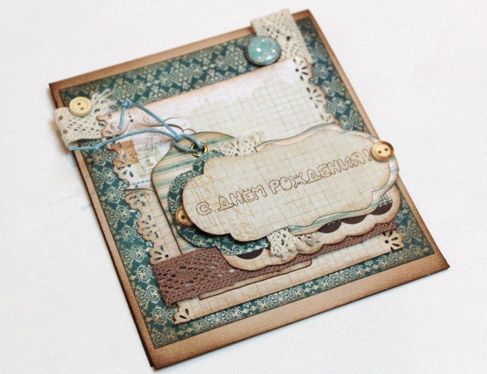 Скрапбукинг открытка для друга