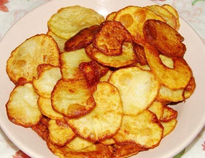 Настоящие домашние чипсы! Очень просто, а главное, что вкусно.