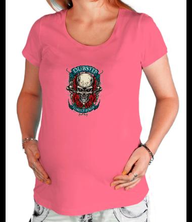 Футболка для беременных Dubstep-череп