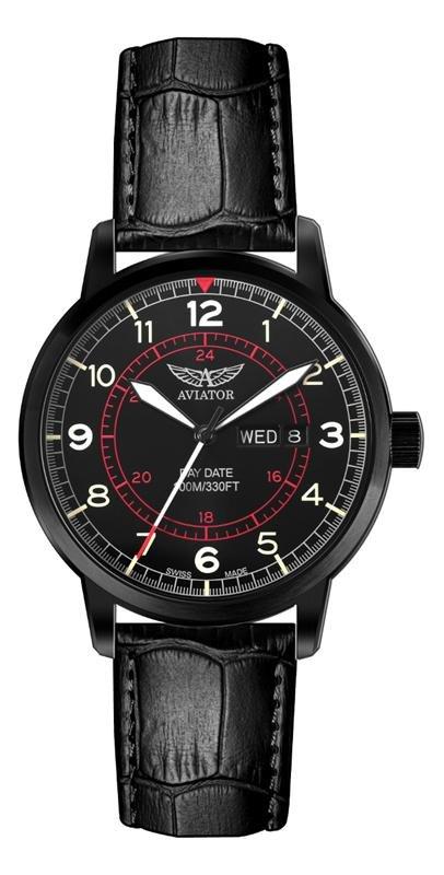 Мужские кварцевые швейцарские наручные часы Aviator