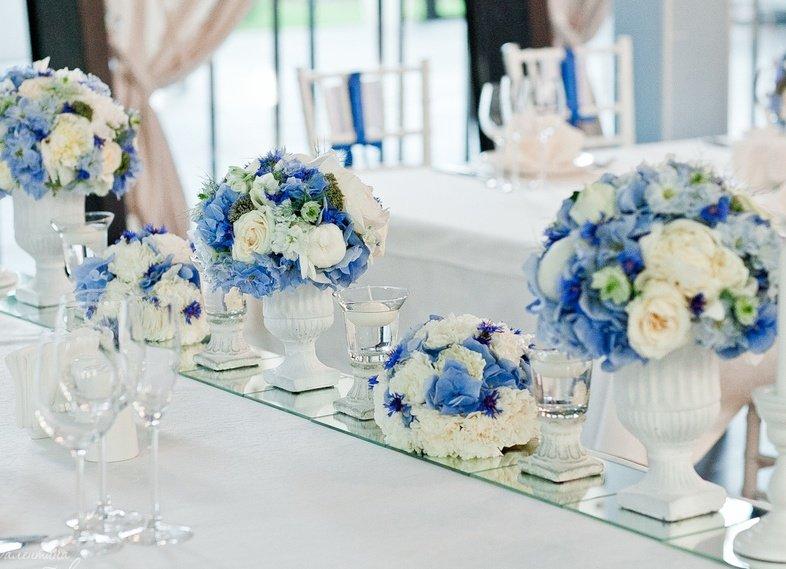 Синие свадебные платья фото невест в нарядах бело-синего 42