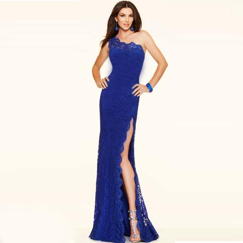Синее яркое платье