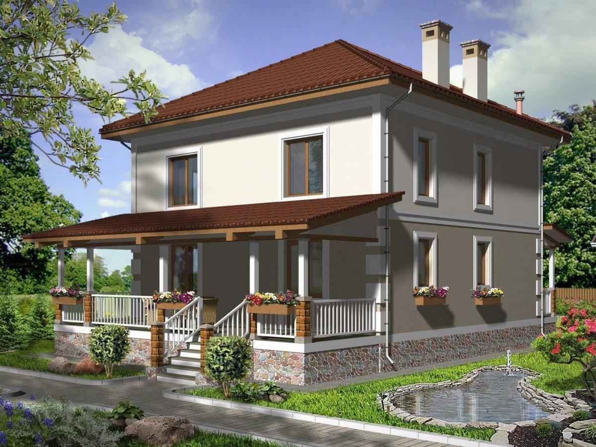 фасад дачного двухэтажного дома фото случая использования