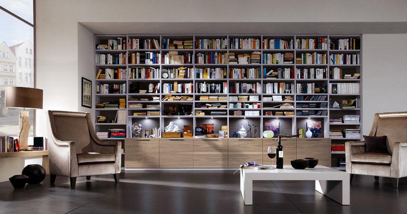 """Современная коллекция библиотек спроектированных из дерева"""" ."""