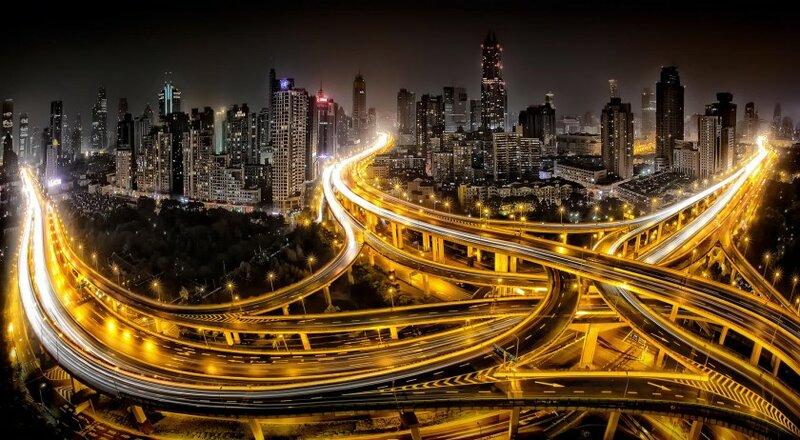 Ночные города - 28 красивых фотографий Шанхай ночью