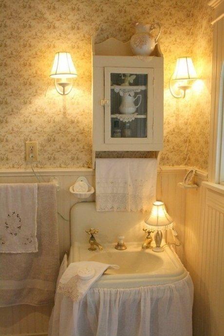 Ванная комната и шебби стиль