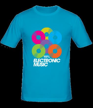 Мужская футболка 100% electronic music - vynil