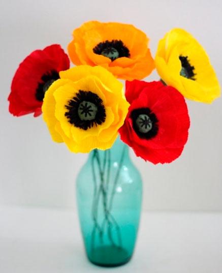 Поделки цветы из подручных средств 191