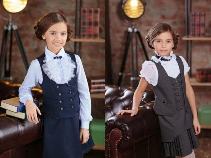 Маленькие школьные принцессы в стильной форме