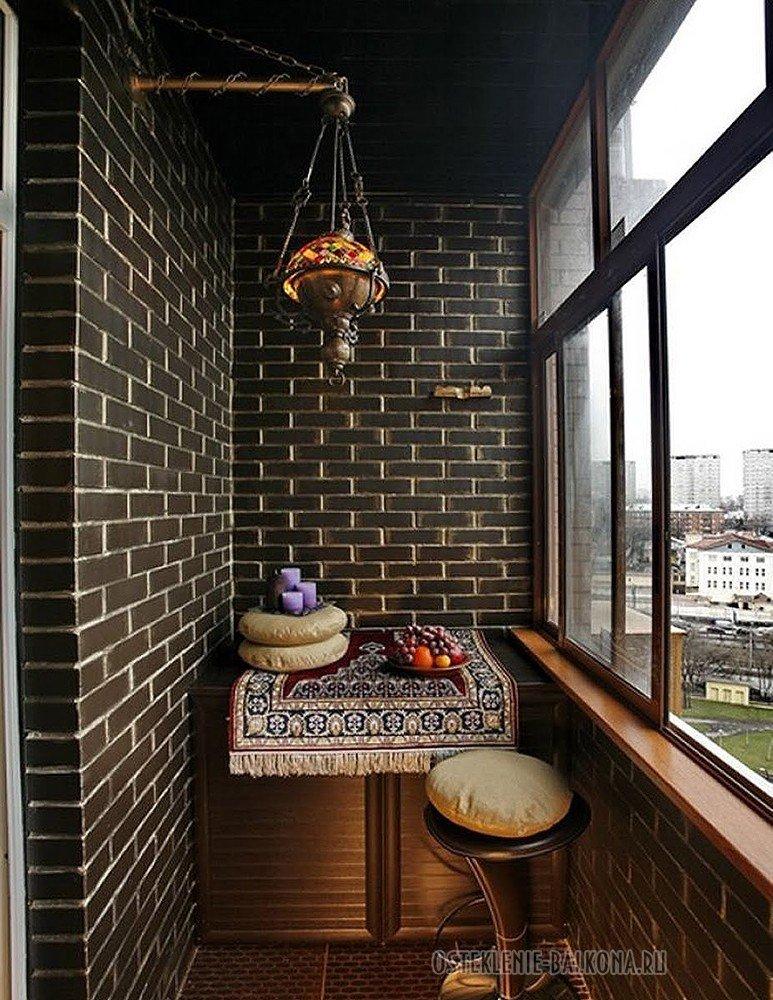 Внутренняя отделка балкона искусственным камнем дешево и эст.