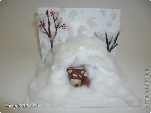 Сделать берлогу медведя из ватных палочек