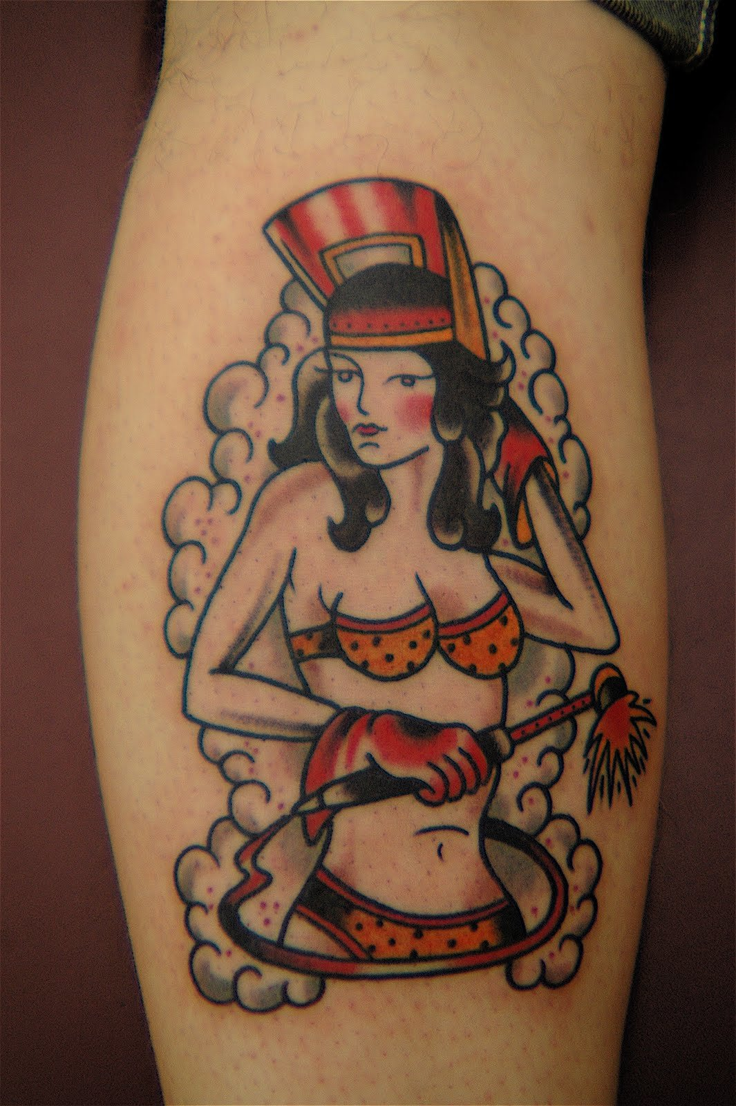 With pin up girl tattoo coles