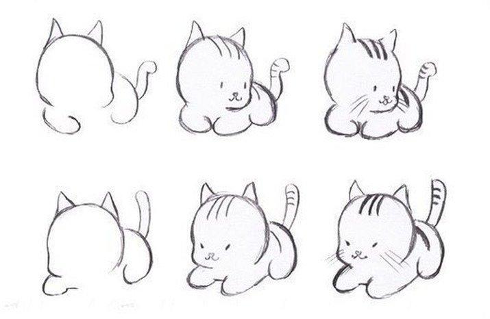 Рисунки животных легко и просто для начинающих