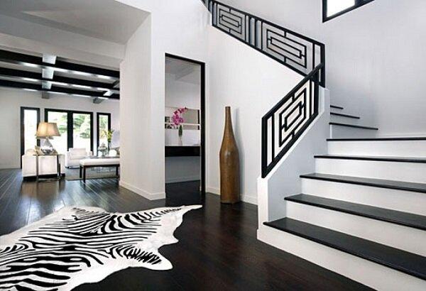 Принт «зебра» в современном интерьере