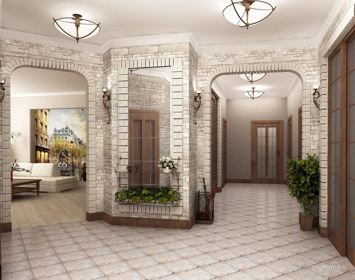 красивые коридоры в домах фото российский