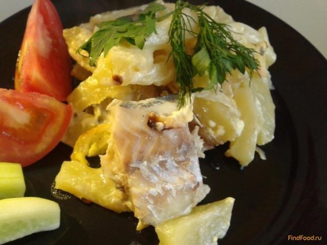 рыба в духовке рецепты с фото минтай с картошкой