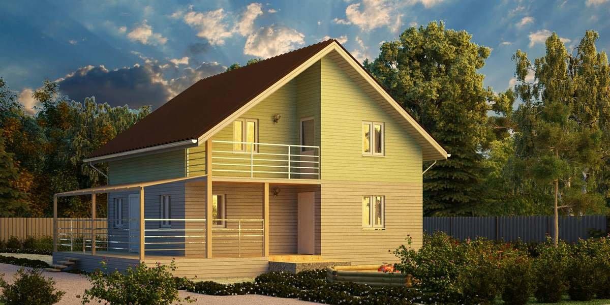"""Пример проекта дома с балконом и террасой """" - карточка польз."""