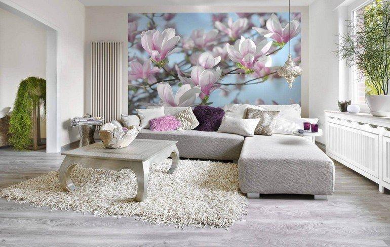 фотообои на стене в квартире