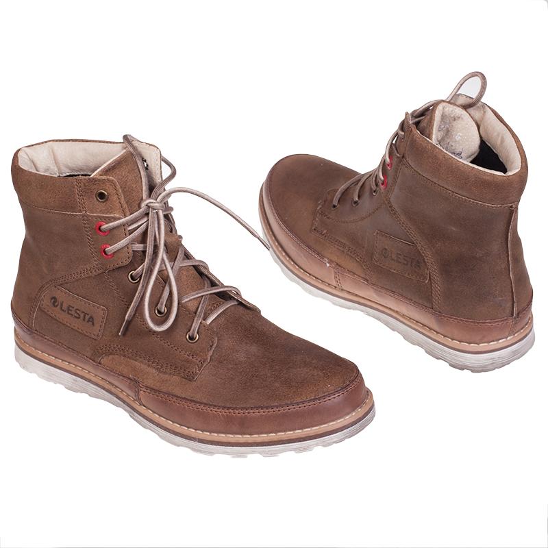 Купить зимние мужские кроссовки из натуральной кожи