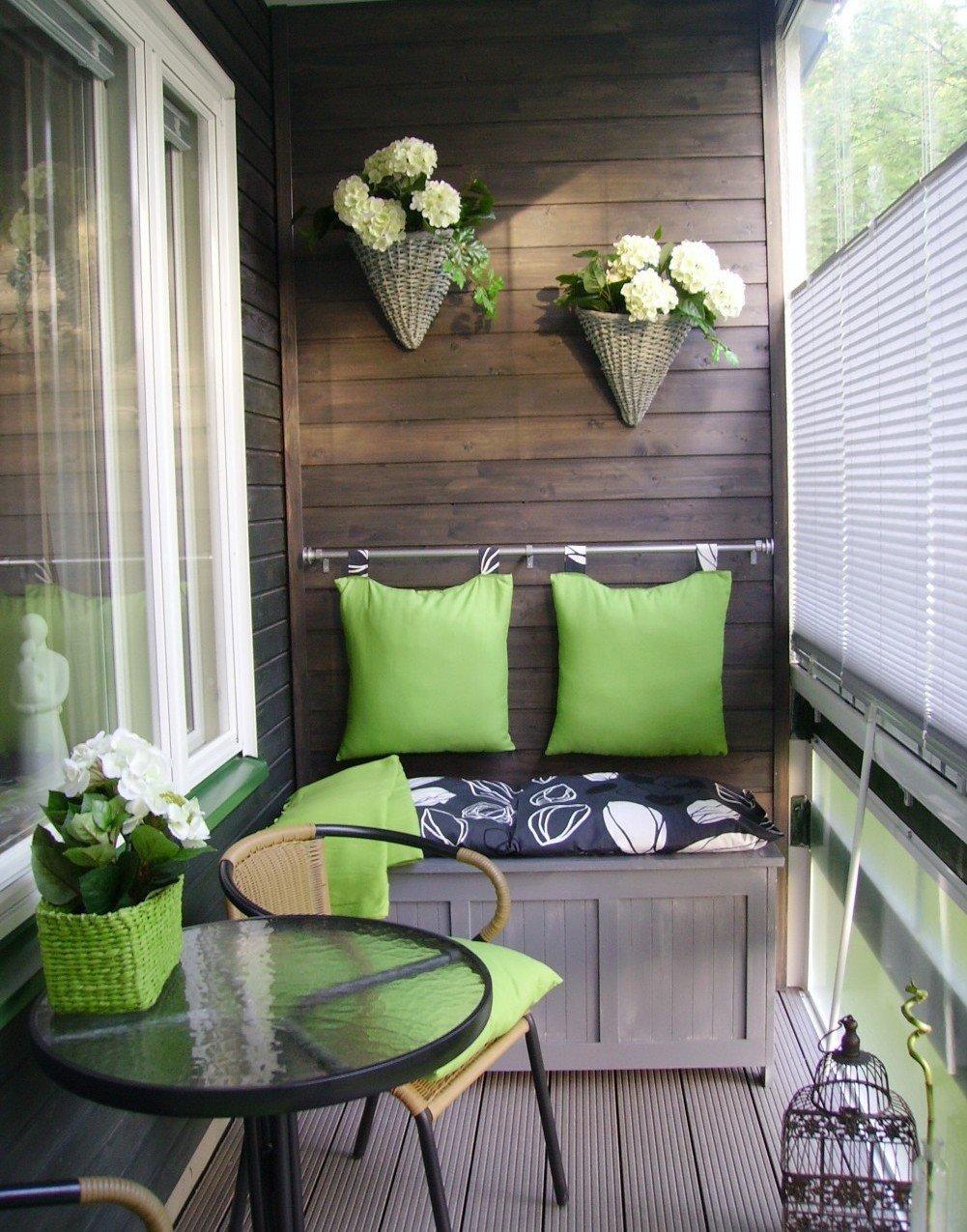 Лучшие идеи для оформления балкона.
