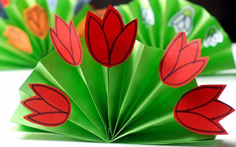 Розы красивые, открытка своими руками 8 березня