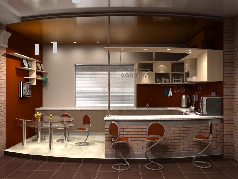 """Барная стойка для вашей кухни барная стойка отделяет кухню"""" ."""