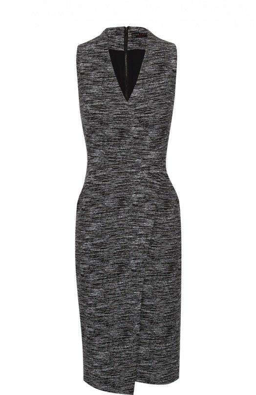 98f10158e3af3ab Трикотажное платье с запахом черно-белого цвета.» — карточка ...