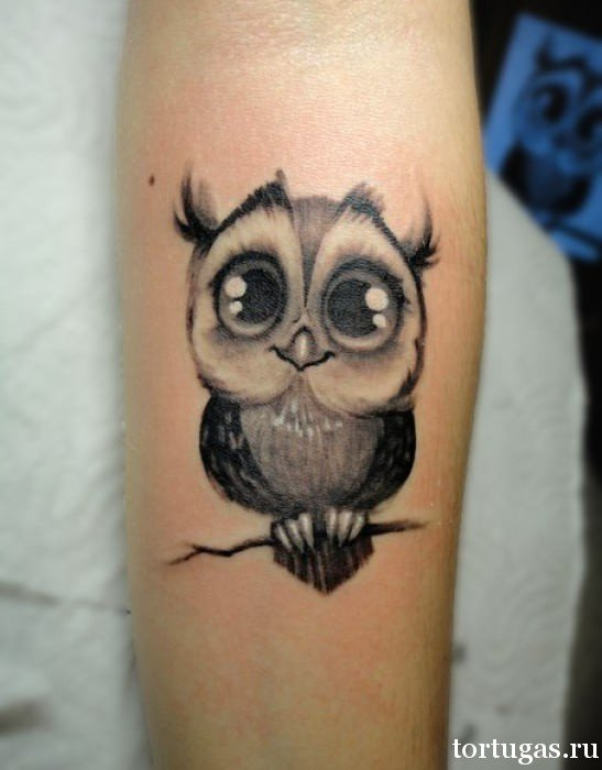 Значение совы Виды женских татуировок фото 176