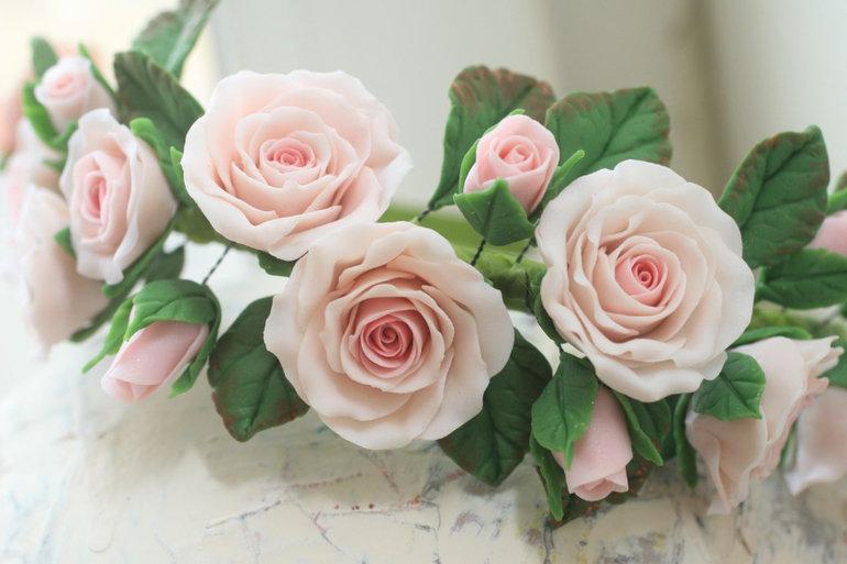 Супер картины розы из полимерной глины фото