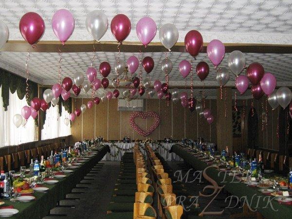 Гелиевые арки из воздушных шариков над столами