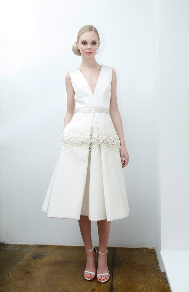 невеста в коротком платье