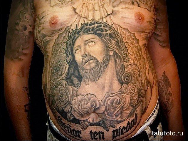 Татуировки на животе мужские - фотографии 9