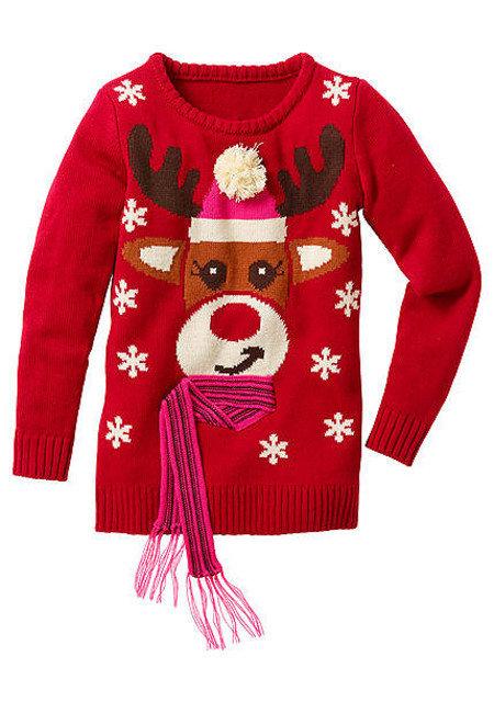 Новогодний свитер для девочки