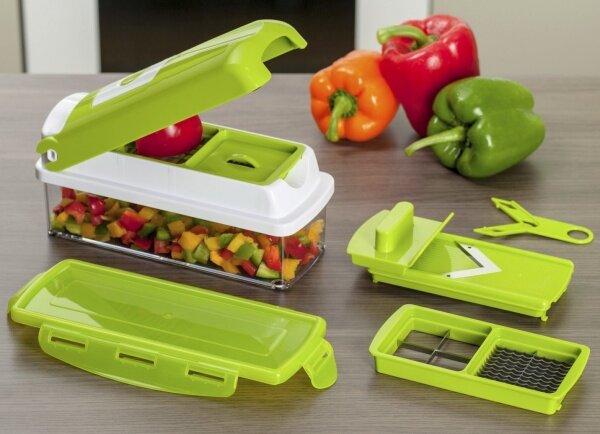 Нарезка овощей различной формы, отличным помощником на кухне будет набор терок, с легкостью справляющийся с поставленной задачей. Гаджеты для кухни и дома.